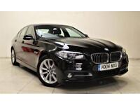 BMW 5 SERIES 2.0 518D SE 4d AUTO 141 BHP + 1 OWNER + SERVICE HISTORY (black) 2014