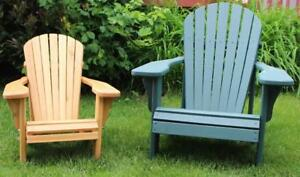 Child Kids Cedar Adirondack Muskoka Deck Patio Cottage Chairs - FREE SHIPPING
