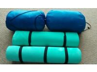 2x Sleeping Bags and Ground Mats