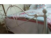 steel framed double bed