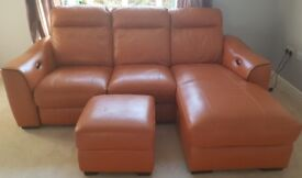 Chaise sofa and footstool for 400£
