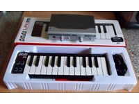 M-AUDIO FIREWIRE AUDIOPHILE MIDI INTERFACE (4 in 6 out) PLUS AKAI LPK 25 USB KEYBOARD