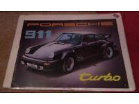 Steel Porsche 911 car picture/sign - new