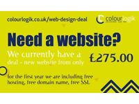 Freelance Web Design Deal | £275.00 package | e-commerce Websites | Responsive | W London