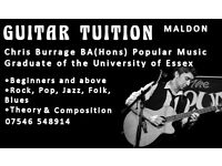 Qualified, experienced guitar tutor based in Maldon teaching all styles and acoustic grades