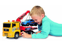 Large German Dickie Toys Pump Action Tow Truck Ideal childs birthday gift new boxed boys toy