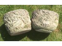 Animal Patterned Stone Pots