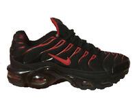 Brand New Nike Air Max PLUS TN BLACK/RED size uk 7, 8 & 10