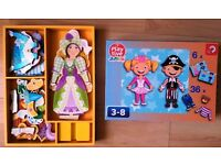 2 X Junior Girls Magnetic Dress Up Role Play Game/Toy