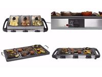 NEW EGL 2 IN 1 TABLE TOP GRILL / BUFFET. GRILL & KEEP WARM