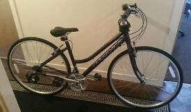 Woman's ridgeback bike with accessories