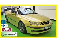 2003 SAAB 9-3 VECTOR CONVERTIBLE * FULL SERVICE HISTORY * LEATHER * MOT 27th SEPT 2017 * ONLY 78K *