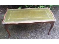 Vintage/retro leather top coffee table