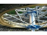 SPEEDWAY BIKE NEW WHEELS TYRES ANODISED TALONS