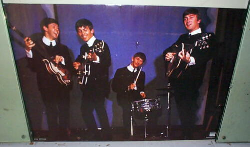 THE BEATLES Vintage Poster LAST ONE