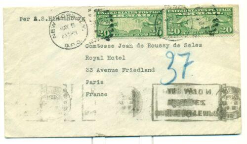 1937 ZEPPELIN HINDENBURG LZ129 SIEGER #454 INTENDED FOR HINDENBURG FLIGHT, PARIS