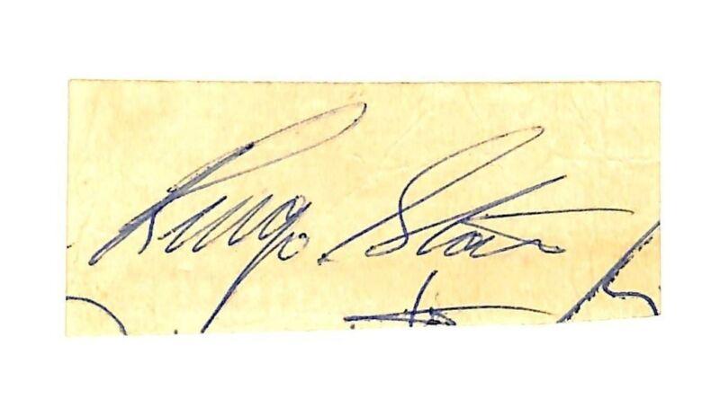 Ringo Starr The Beatles Authentic Signed 1.25x2.75 Cut Signature BAS #A76356