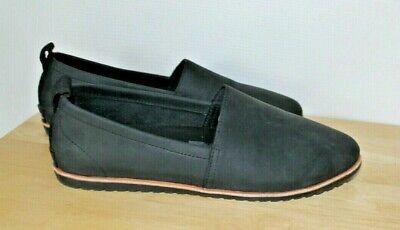 Sorel Boots Ella Black Slip On flats Shoes 9.5 Not Worn Women Leather
