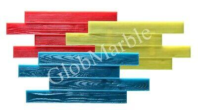 Set Of 3 Pc Concrete Vertical Stamp Mats Wsm 105200. Wood Texture Concrete Mats