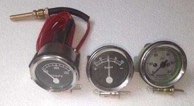 David Brown Tractor Gauge Set Temperatureoil Pressureammeter Mechanical