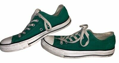 Womens Converse All-Star Low Pink Canvas Shoes Green Women's Size 8