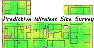 2.4GHz & 5GHz Wireless Ekahau predictive survey