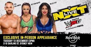2x passes to WWE NXT Tour meet & Greet - Sydney- 13th dec Seven Hills Blacktown Area Preview