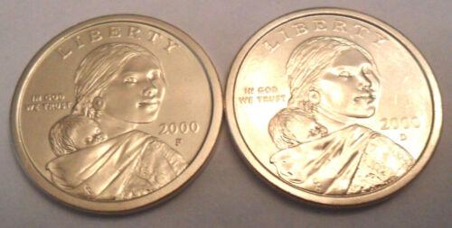 2000 P & D Sacagawea Dollar Set (2 Coins)  **FREE SHIPPING**