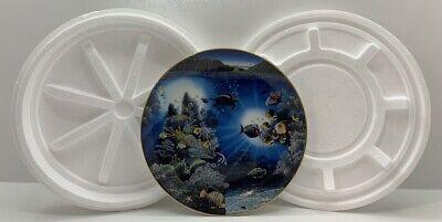 """Danbury Mint 1991 Serenity of Waipio Robert Nelson Underwater Paradise 8"""" Plate"""