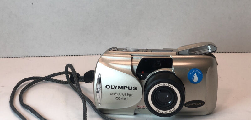 Olympus Stylus Epic Zoom 80 All- Weather Film Camera Tested & Working