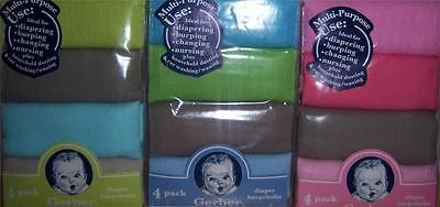 new 4 pk solid diapers baby shower