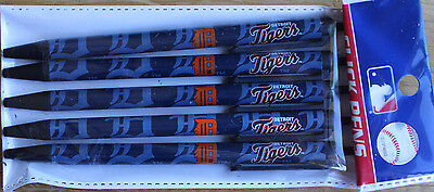 Mlb Team Detroit Tigers    5  Click Pens   Black Ink Official Licensed