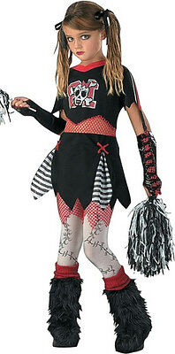 D/Ceptions2: Girls Cheerless Leader Gothic Cheerleader Child Costume Size XL