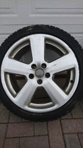 """audi a4 oem 5x112 18"""" wheels and winter tires 235/40/18"""