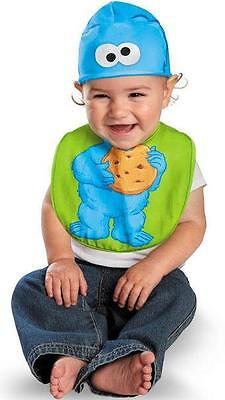 Disguise Drool Over Me Sesame Street Cookie Monster Infant Bib and Hat Set - Infant Cookie Monster Costume