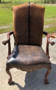 Cowhide Arm Chair Hair On Hide Western Accent Chair