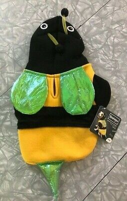 Bumble Bee Hoodie Dog Costume NWT Size XXS  ()