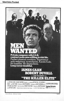 THE KILLER ELITE pressbook AND POSTER, James Caan, Robert Duvall, Gig Young