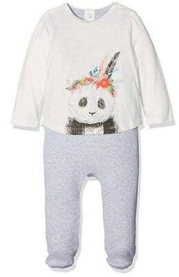 Mamas & Papas Baby Girls' Panda Mock Layer All in One  6-9 months RRP£19 (2052)