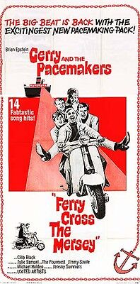 GERRY AND THE PACEMAKERS orig 1965 large movie poster FERRY CROSS THE MERSEY