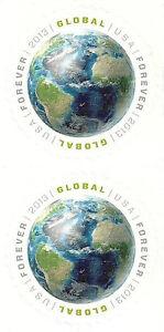 US-4740-Earth-global-imperf-no-die-cut-vertical-pair-MNH-2013
