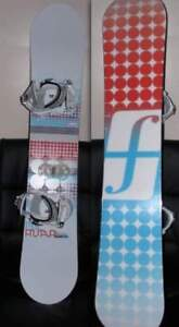 Womens complete snowboard set and boots