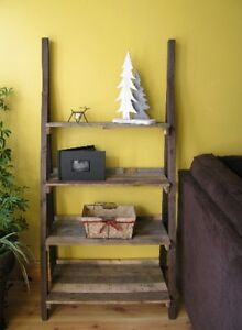Upcycled Ladder Shelf