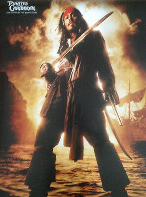 CAPTAIN JACK SPARROW Poster - Depp Full Size Print ~ PIRATES OF THE CARIBBEAN Captain Jack Sparrow Poster