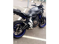 Yamaha MT 07 2014 with Akrapovic exhaust. Loads of extras fsh mt07. A2 compliant