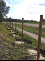 FENCE POST DRILLING & SETTING