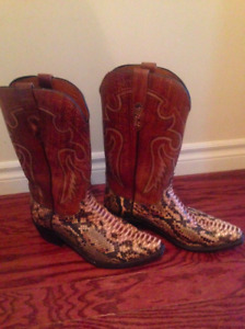 Men's Lucchesse Python Boots