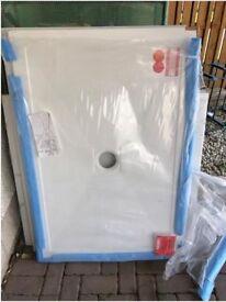 1000 x 1200 ceramic shower tray - brand new - bathroom shower