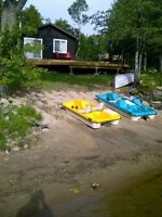 Private 36 acre Lakefront Cottage with Sandy Beach.
