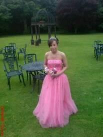 Size 8 Hot Pink Prom Dress